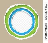 torn paper circle frame vector...   Shutterstock .eps vector #1298375167