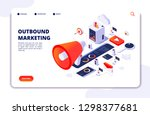 customer outbound marketing.... | Shutterstock .eps vector #1298377681