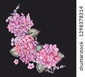 summer watercolor vintage... | Shutterstock . vector #1298378314