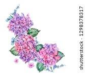 summer watercolor vintage... | Shutterstock . vector #1298378317