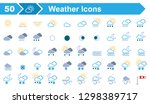 50 weather icons   iconset ... | Shutterstock .eps vector #1298389717
