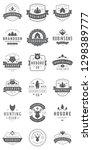 camping logos templates vector... | Shutterstock .eps vector #1298389777