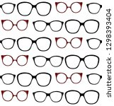 seamless pattern of spectacle... | Shutterstock .eps vector #1298393404