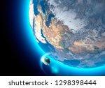 spacecraft  crew carrier... | Shutterstock . vector #1298398444