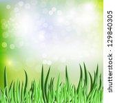 abstract vector spring backdrop ... | Shutterstock .eps vector #129840305