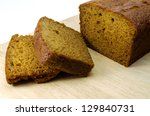 Ginger Cake Slices On Board