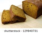 Ginger Cake Slices On Board