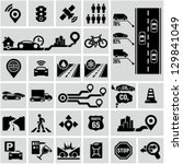 road traffic info graphic icons | Shutterstock .eps vector #129841049