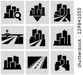 cityscape icons | Shutterstock .eps vector #129841055