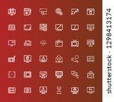 editable 36 monitor icons for... | Shutterstock .eps vector #1298413174
