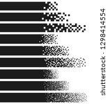 abstract gradient pixel... | Shutterstock .eps vector #1298414554