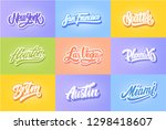 Lettering Set Of United State...