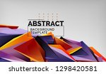 3d geometric triangular shapes... | Shutterstock .eps vector #1298420581
