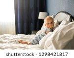 beautiful baby boy  sweet child ... | Shutterstock . vector #1298421817