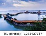 The beautiful taihu lake garden in wuxi, China