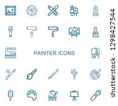 editable 22 painter icons for... | Shutterstock .eps vector #1298427544