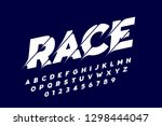 sport style modern font ... | Shutterstock .eps vector #1298444047