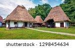 panoramic summer view of... | Shutterstock . vector #1298454634