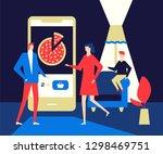 online food ordering   flat... | Shutterstock .eps vector #1298469751