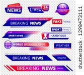 breaking news. television... | Shutterstock .eps vector #1298473111