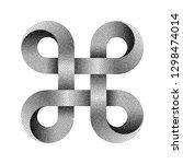 stippled bowen knot sign.... | Shutterstock .eps vector #1298474014