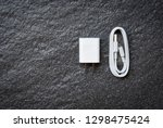 smartphone adapter power... | Shutterstock . vector #1298475424