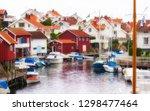 swedish fishing village of... | Shutterstock . vector #1298477464
