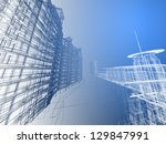 abstract architecture | Shutterstock . vector #129847991