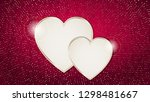 the valentine s day background... | Shutterstock .eps vector #1298481667