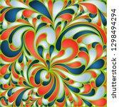 silk texture fluid shapes ... | Shutterstock .eps vector #1298494294