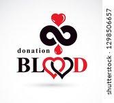 blood donation inscription...   Shutterstock .eps vector #1298506657