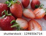 ripe strawberries fruit  photo... | Shutterstock . vector #1298506714