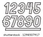 vector numbers  modern numerals ...   Shutterstock .eps vector #1298507917