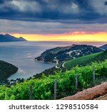 dramatic evening seascape of... | Shutterstock . vector #1298510584