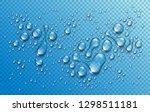 water rain drops or... | Shutterstock .eps vector #1298511181