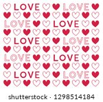 illustration of red heart and... | Shutterstock .eps vector #1298514184