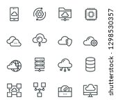 cloud computing icon set | Shutterstock .eps vector #1298530357