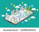 travel map on mobile phones ...   Shutterstock .eps vector #1298530531