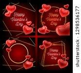 valentines day sale background...   Shutterstock .eps vector #1298536177