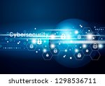 cybersecurity and global... | Shutterstock .eps vector #1298536711