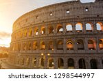 the colosseum or coliseum ... | Shutterstock . vector #1298544997
