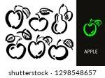apple vector sketch icon... | Shutterstock .eps vector #1298548657