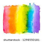 rainbow watercolor  isolated on ... | Shutterstock . vector #1298550181