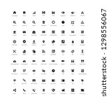 set of 72 user interface vector ...