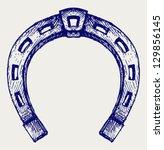 Horseshoe. Doodle Style