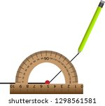 measurement of the degree angle ... | Shutterstock .eps vector #1298561581
