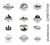 outdoor retro emblem | Shutterstock .eps vector #1298570764