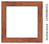 wooden frame isolated on white... | Shutterstock .eps vector #1298580451