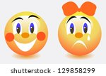smiles sad and funny. vector... | Shutterstock .eps vector #129858299
