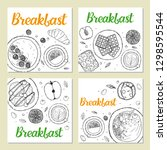 set of banner templates.... | Shutterstock .eps vector #1298595544